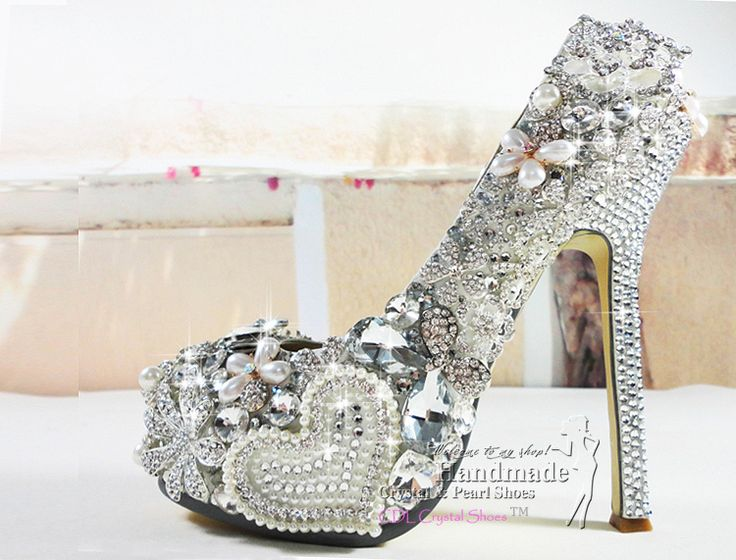 92 best Crystal Wedding Party Shoes images on Pinterest Crystal