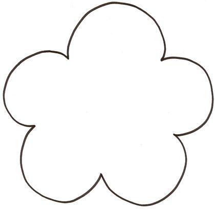 Gabarit Fleur pétales ronds
