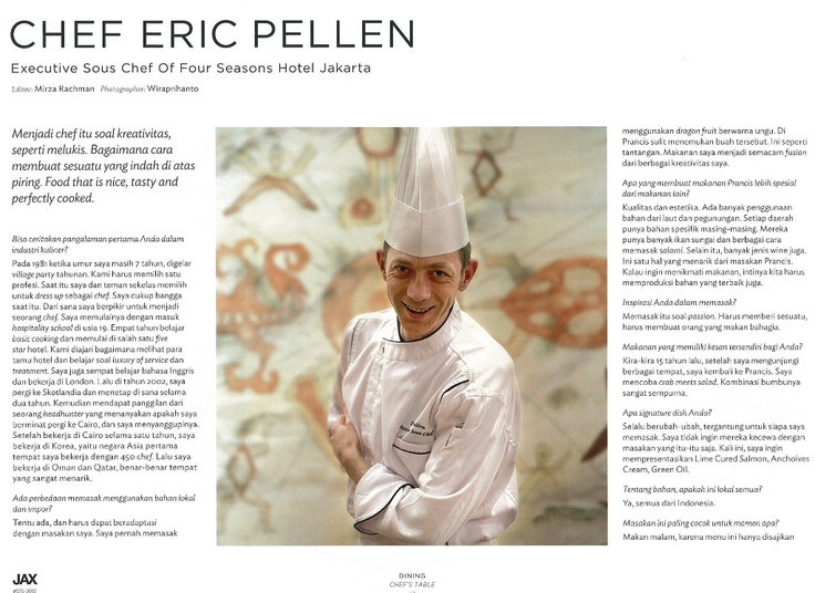 Eric Pellen on JAX Magazine