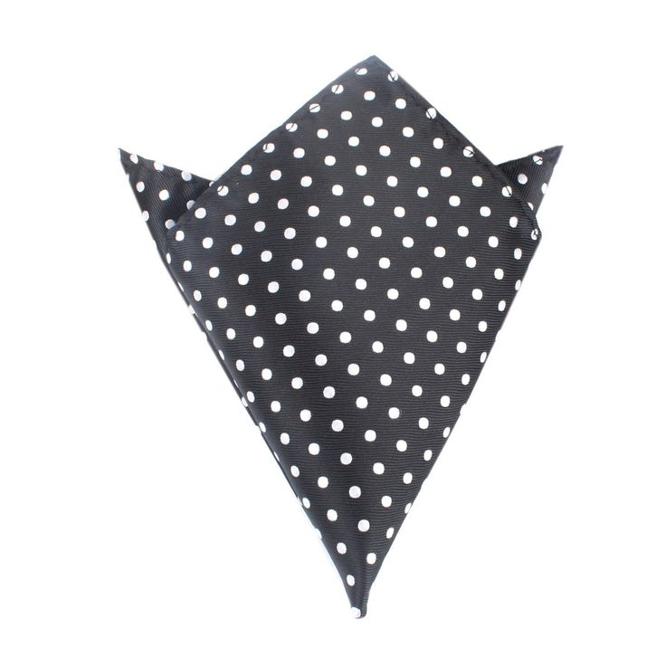 Royal Black Polka Dots Pocket Square by OTAA | Suit Handkerchief  Men's Pocket Squares  | Online Ties and Accessories  Australia | www.otaa.com.au | OTAA