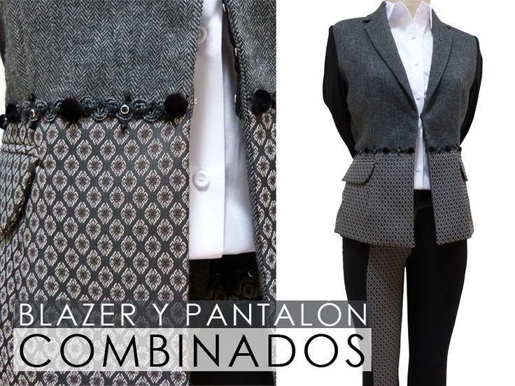 BETTINA SPITZ - Pantalón y Blazer combinados. Texturas elegantes y sofisticadas