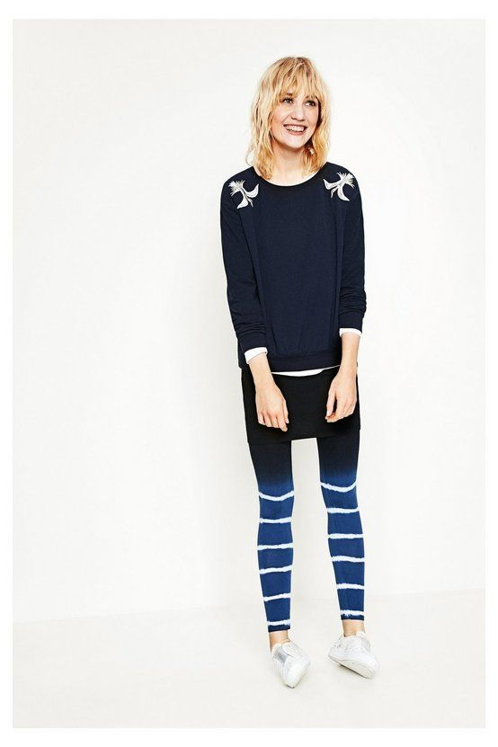 Leggings azules con falda - Lere | Desigual.com H