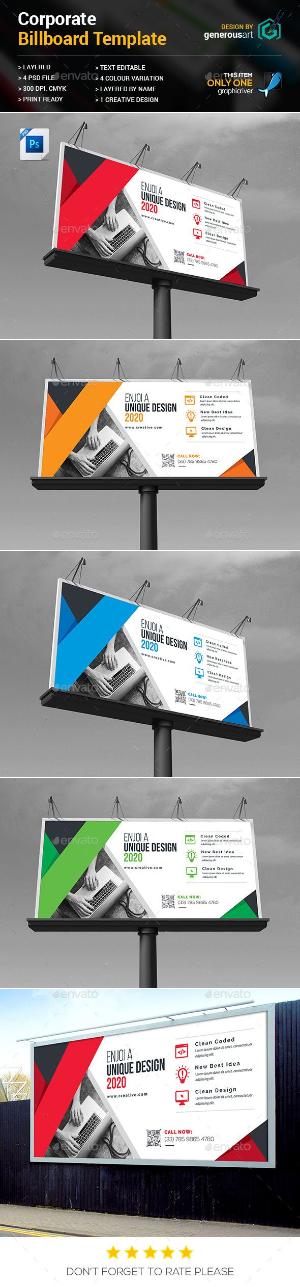Billboard Template PSD
