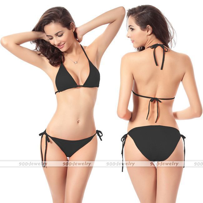 35097cf22557e Women Bikini Swimsuit Bathing Push-up Halter Bandage Swimwear Bra Black-am   fashion  clothing  shoes  accessories  womensclothing  swimwear (ebay link)