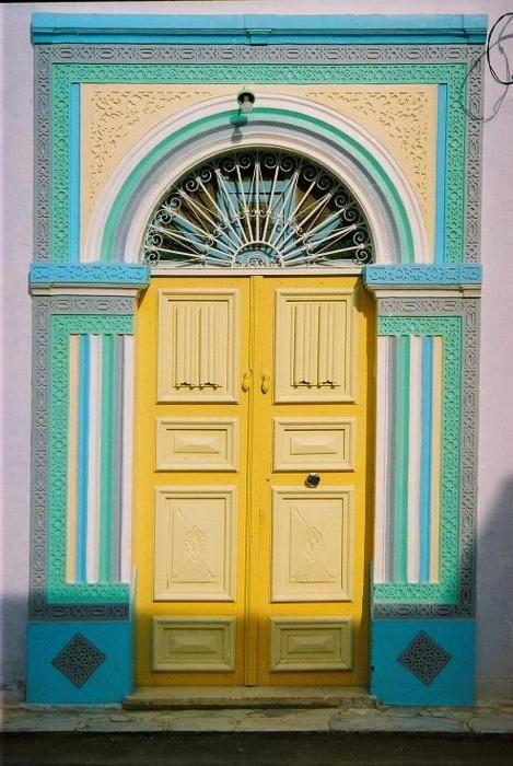 .: Caribbean Doors, Home Doors, Doors Πόρτα Porta, Colors Front, Front Doors, Doors Close, Yellow Doors, Entic Entrance, Doors Türen