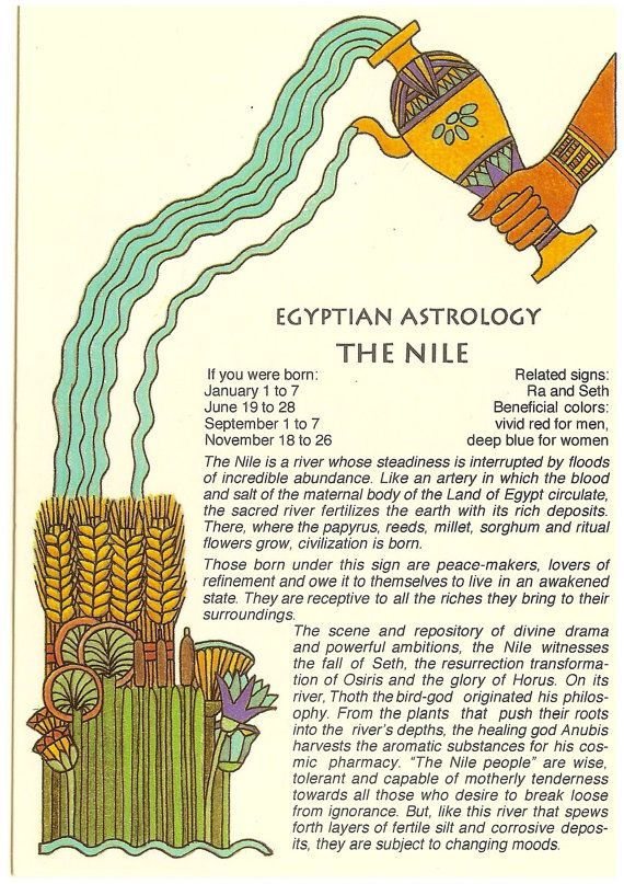 Vintage Egyptian Astrology postcard: The by QueenoftheRandomJob