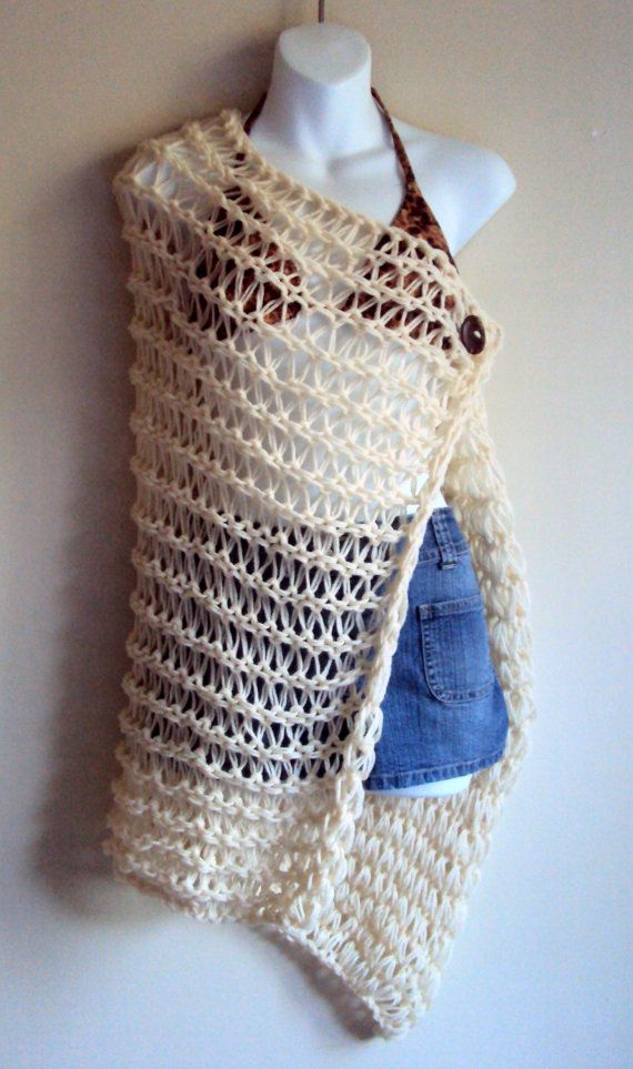 Hey, I found this really awesome Etsy listing at https://www.etsy.com/listing/152258770/crochet-swimsuit-coverup-beachwear-beige