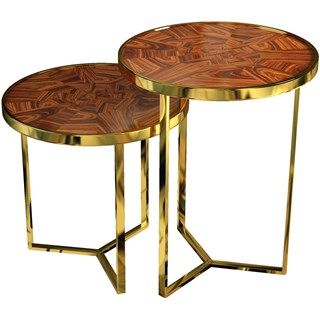regent palisander wood gold plated brass nesting side on exclusive modern nesting end tables design ideas very functional furnishings id=34780