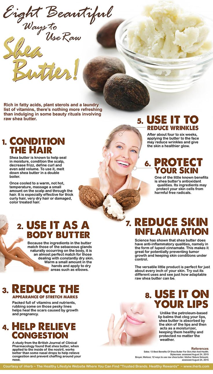 8 Ways to Use Raw Shea Butter (Infographic)