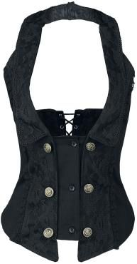 Burleska  Corsage  »Melissa Waist Coat« | Buy now at EMP | More Gothic  Corsages & Corsetts  available online ✓ Unbeatable prices!