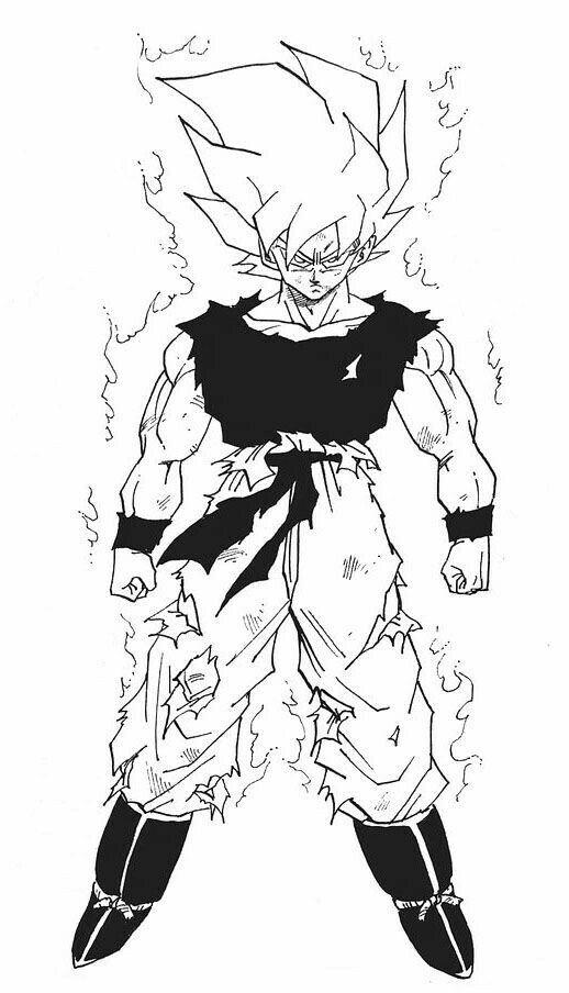 Battle torn SS Goku
