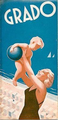 Grado - Venezia - Italy vintage travel poster #beach #riviera #essenzadiriviera