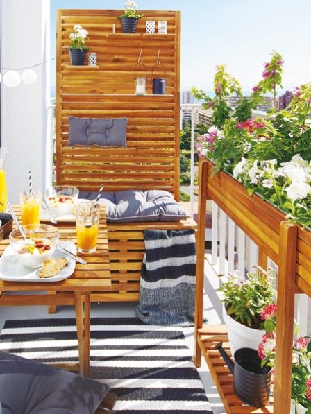 m bel pflanzen und deko alles f r den mini balkon balconies balcony design and cosy. Black Bedroom Furniture Sets. Home Design Ideas