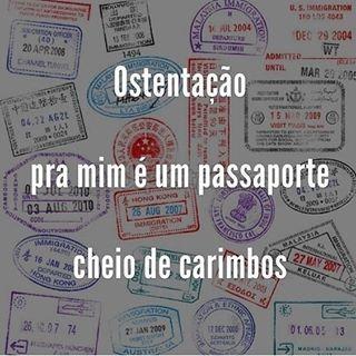 Gente que coleciona carimbos e boas memórias! ✈✈✈ #nomadesdigitais #viajar