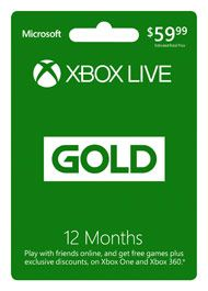12-Month Xbox Live Gold Membership for Xbox 360 | GameStop