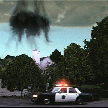 Airplane engine over the Darko house