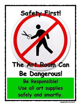 Art Room Rules Poster - Safety First  $1.00
