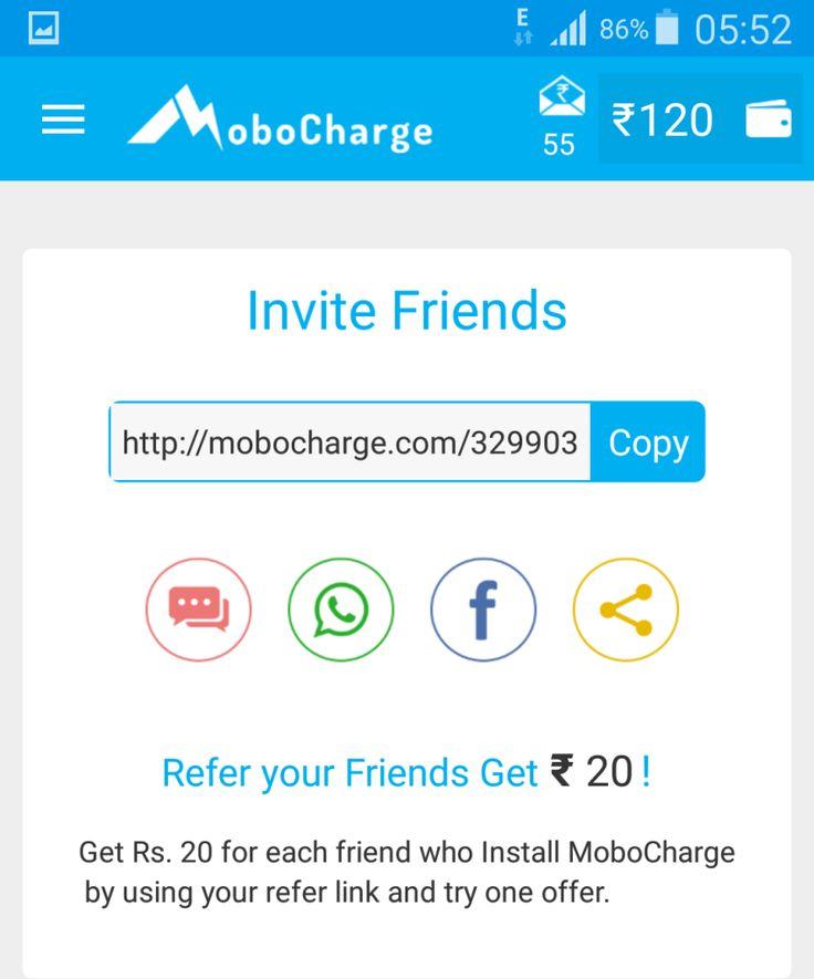 MoboCharge Refer Dashboard