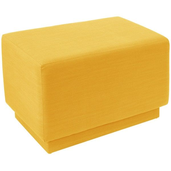 25 Best Ideas About Yellow Ottoman On Pinterest Gray