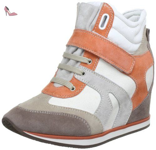 D Ophira B, Sneakers Basses Femme, Or (Lt Taupe/Lt Gold), 35 EUGeox