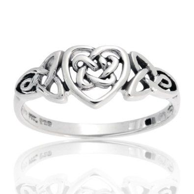 o m g. $19.99. Amazon.  Sterling Silver Celtic Knotwork Heart Ring.  goes up to size 9.  is it sad how in love I am with this.
