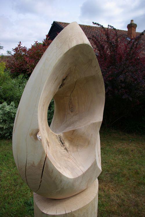 Ash wood carved sculpture by sculptor martin pigg