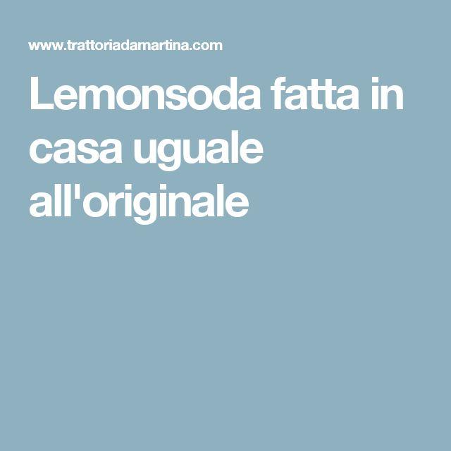 Lemonsoda fatta in casa uguale all'originale