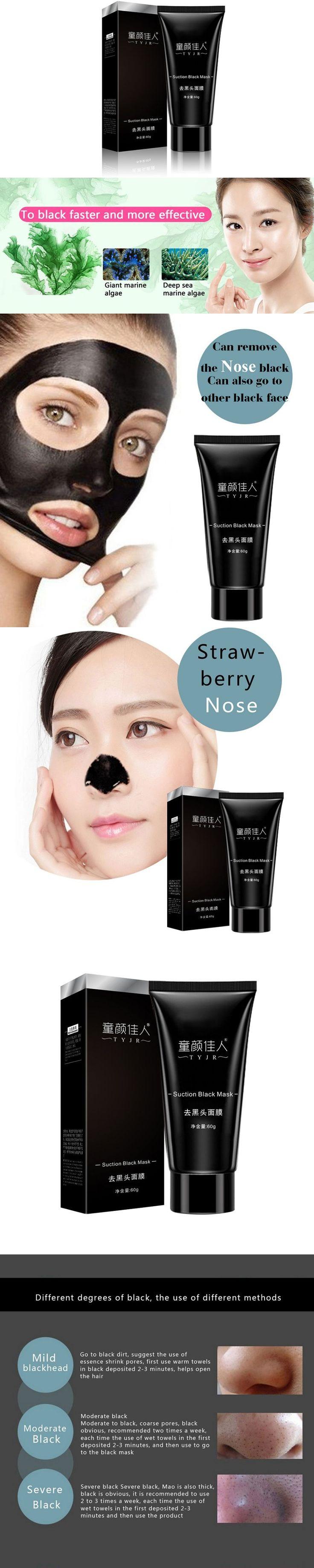 Face Care Suction Black Mask Facial Mask Nose Blackhead Remover Peeling Peel Off Black Head Acne Treatments 78