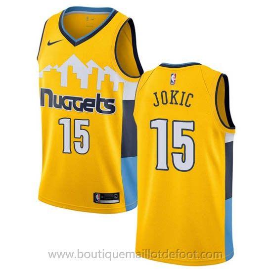 Nike maillot de basket nba jaune Nikola Jokic Denver Nuggets