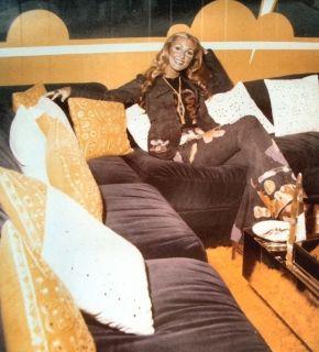 Linda Thompson at Graceland in the monkey room in Graceland..