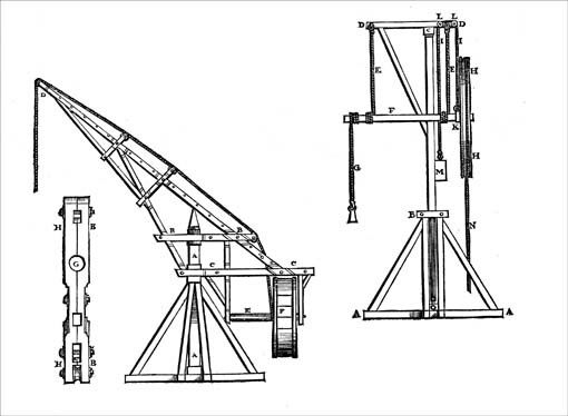 Initially Most Cranes Used In Medieval Construction Work Were Only