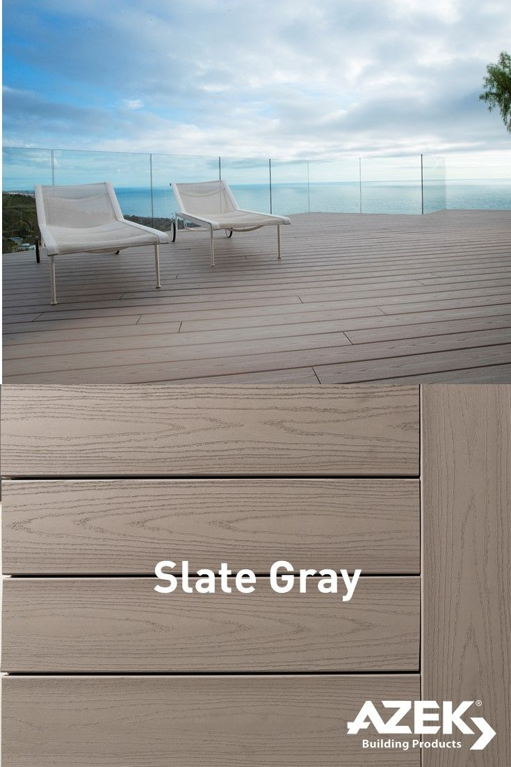 Azek Harvest Collection Slate Gray Is The Perfect Contemporary Color Decking