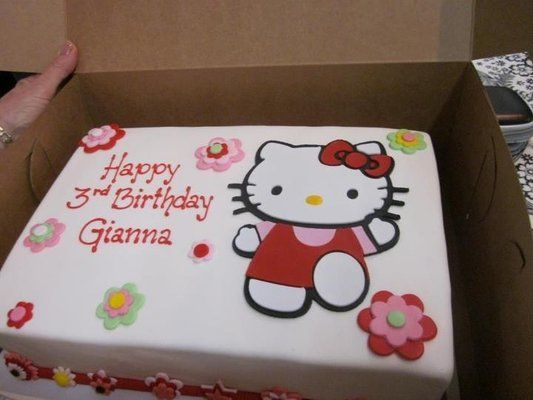 Birthday Cake Hello Kitty D