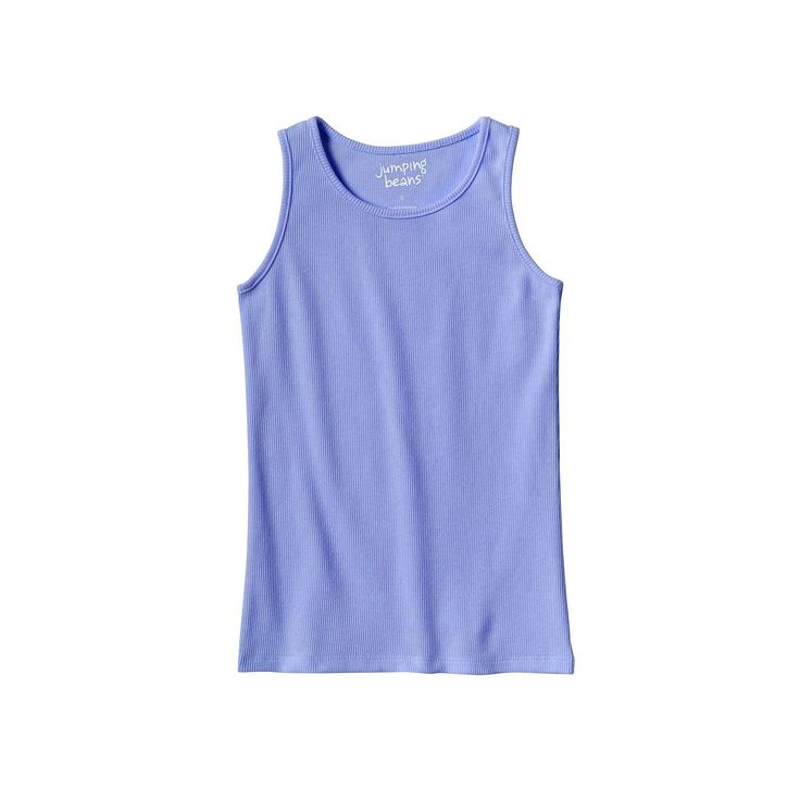 Girls 4-10 Jumping Beans® Basic Ribbed Tank Top, Girl's, Size: 6X, Blue (Navy)