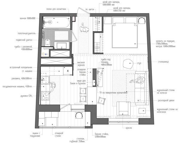 Una casa di 40 mq perfetta e tantissimi consigli per arredare una casa piccola