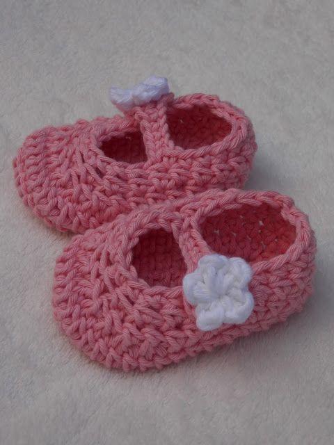 Renate's haken en zo: Voor baby's! Slofjes patroon super schattig! !!