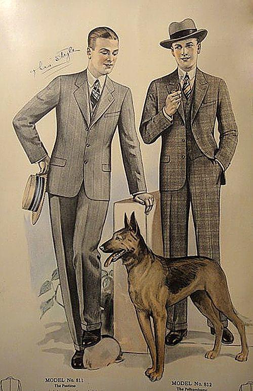 Etre élégant en 1927 (Illustration du catalogue Homme JL Taylor)