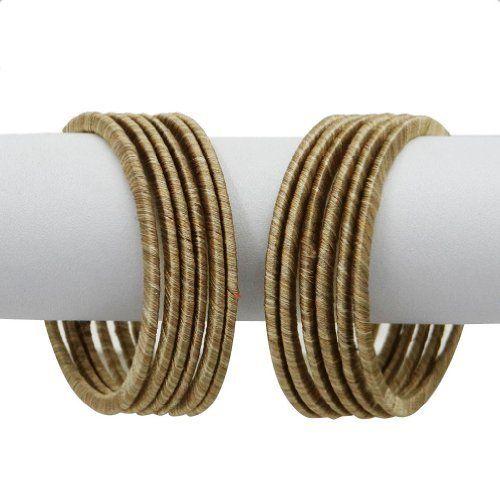 "12 Pcs Silk Thread Bangles Bracelet Dark Beige Fashion India Jewelry Ethnic Churi Gift SZ 2*4 IBA. $16.99. SALE FOR - Set of 12 Bangle Set; MATERIAL - Silk Thread;. SIZE - 2*4 (2.25""Inch Diameter); COLOR - Dark Beige;. 12 Pcs Silk Thread Bangles Bracelet Dark Beige Fashion India Jewelry Ethnic Churi Gift SZ 2*4. ATB171"