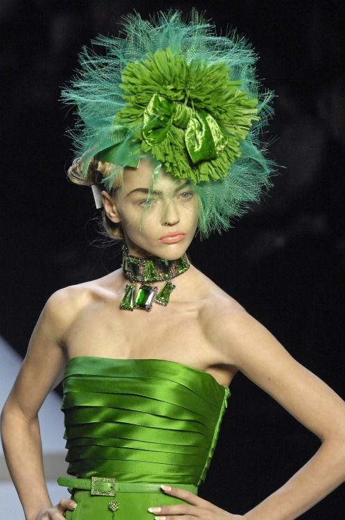 Emerald City - Love this color green and the hat.