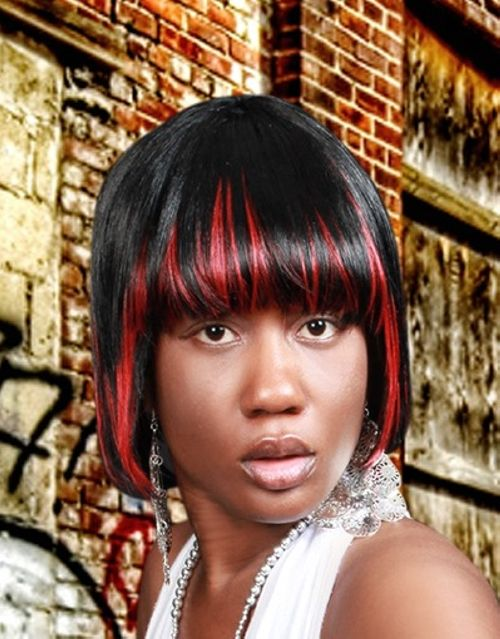 Easy Black and Red Bob Haircuts for African American Women