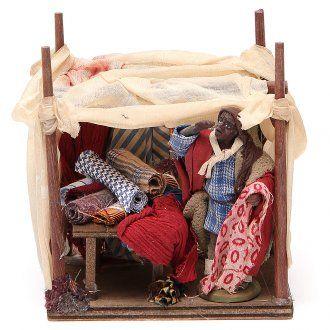 Mercante moro con tenda 10 cm presepe Napoli   vendita online su HOLYART