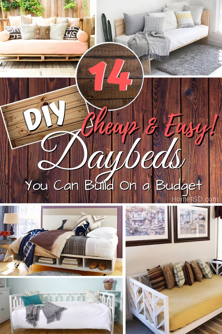 14 Easy Diy Daybed Ideas That You Can Build On A Budget Diy