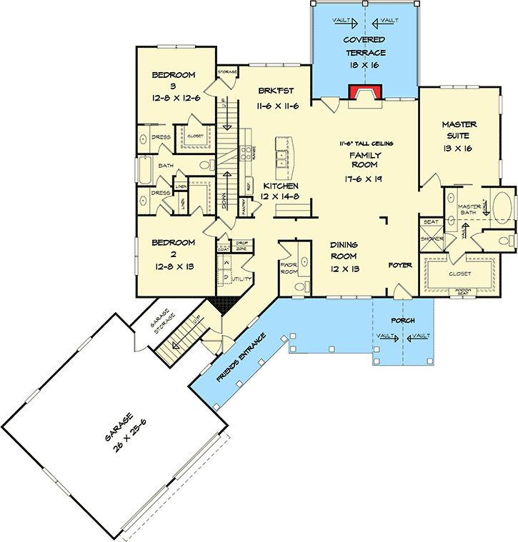 51 best house plans images on pinterest craftsman home plans