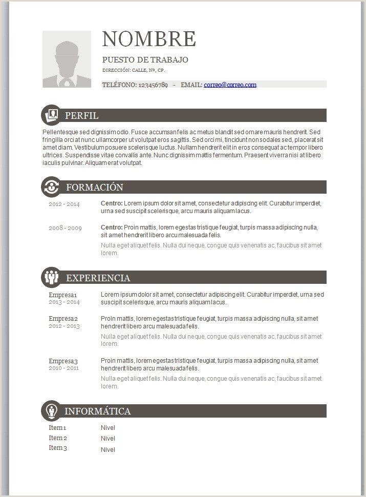 Curriculum Vitae Basico Formato Word Para Rellenar Gratis