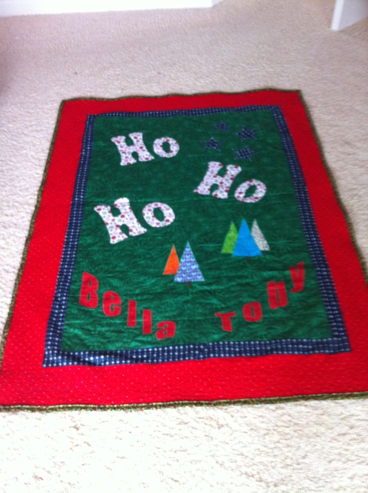 Back of 2013 Christmas quilt