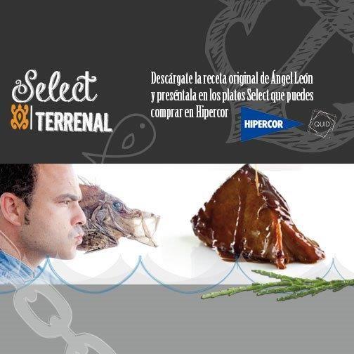 Descárgate la receta de jarrete marino del chef Ángel León y preséntala en los platos Select by Quid. A la venta en Hipercor