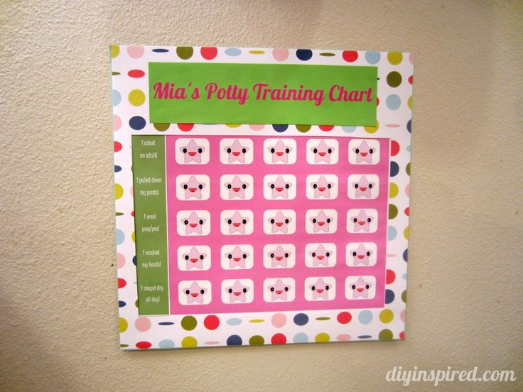 Potty Training Chart With Free Printable Potty Training