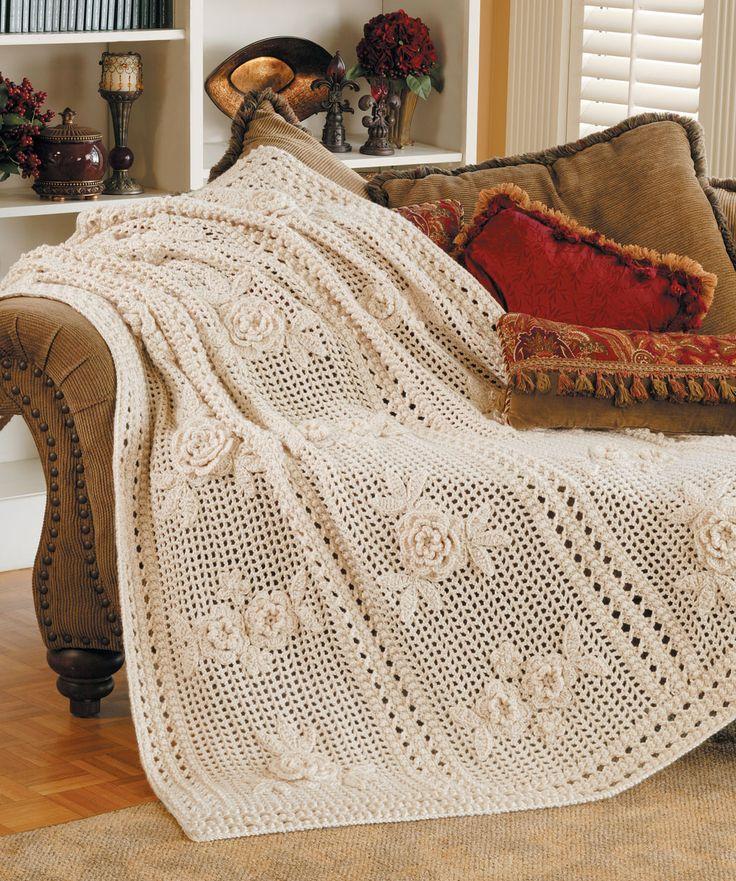 Crochet Afghan Pattern Wedding Gift : Flower Garden Afghan Filet Crochet Patterns Pinterest