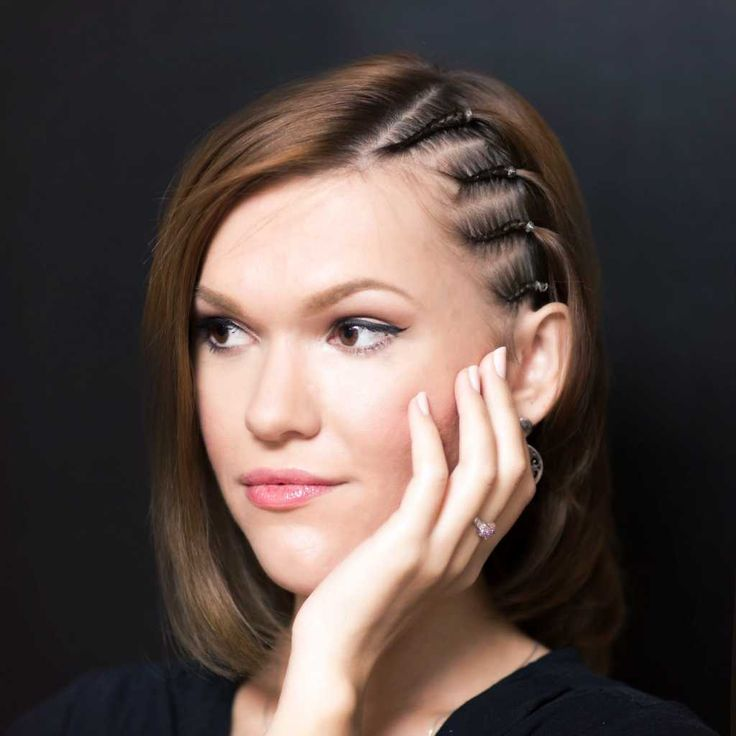 Middle length hairstyle with cornrows on sides :: one1lady.com :: #hair #hairs #hairstyle #hairstyles