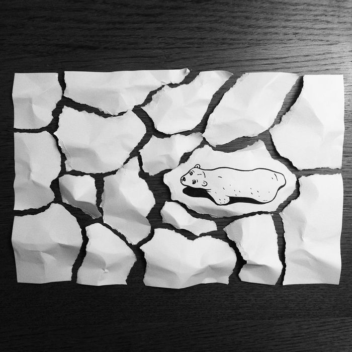 This artist creates 3D art using paper and pen only - Designer Daily: graphic and web design blog